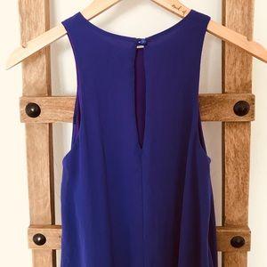 Solemio Dresses - Mini purple sleeveless shift dress